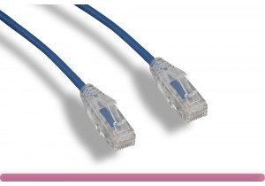 Blue Slim Cat 6 UTP Patch Cable