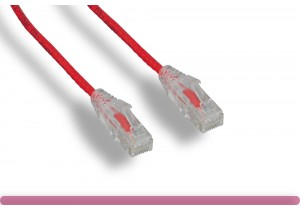 Red Slim Cat 6a UTP Patch Cable