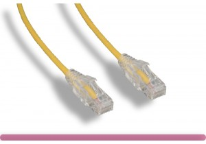 Yellow Slim Cat 6a UTP Patch Cable
