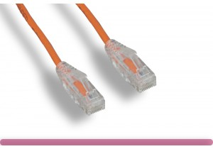ORANGE Slim Cat 6 UTP Patch Cable
