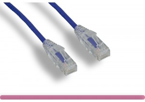 Purple Slim Cat 6 UTP Patch Cable
