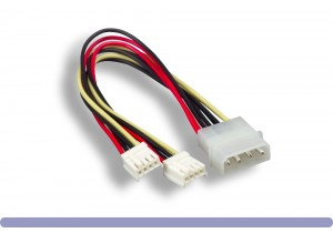 "5.25"" Male / 3.5"" Female x 2 Internal DC Power Y Cable"