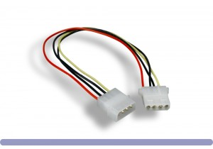 "5.25"" Male / 5.25"" Female Internal DC Power Cable"