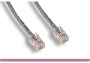 Non-Booted Gray Cat 6 UTP Patch Cable