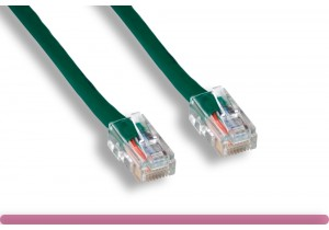 Non-Booted Green Cat 6 UTP Patch Cable