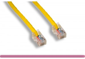 No Boot YELLOW Cat 6 UTP Patch Cable