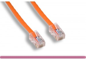 Orange Color Non-Booted Cat 5e UTP Patch Cable