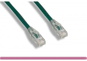 Cat 6 UTP Patch Cable with Clear Boot Green Color