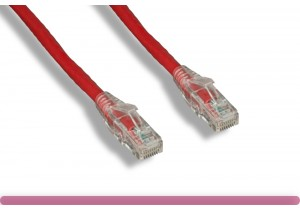 Cat 6 UTP Patch Cable with Clear Boot Red Color