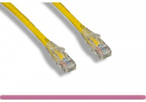 Cat 6 UTP Patch Cable with Clear Boot Yellow Color