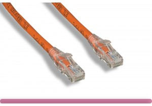Cat 6 UTP Patch Cable with Clear Boot Orange Color