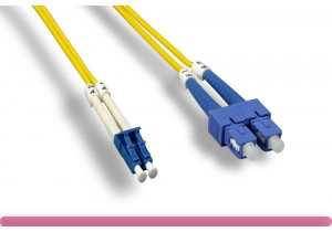 Duplex Single Mode LC / SC 9 /125 Fiber Optic Cable
