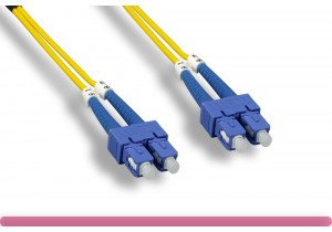 Duplex Single Mode SC / SC 9 /125 Fiber Optic Cable