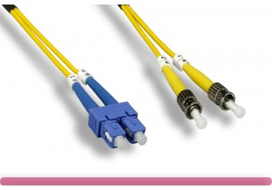 Duplex Single Mode SC / ST 9 /125 Fiber Optic Cable