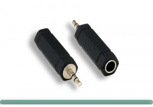"""3.5mm Stereo M to 6.3mm (1/4"""") Stereo F Adapter"""