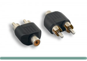 RCA F To RCA M x 2 Y Adapter