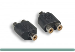 RCA F To RCA F x 2  Y Adapter