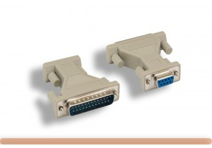 DB9 F to DB25 M Molded AT Modem Adapter