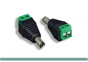 DC Male Power Plug Adapter for CCTV Camera