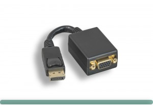 DisplayPort to VGA Adapter with Latch