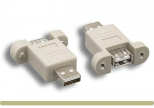 USB 2.0 Type A M / F Panel Mount Gender Changer