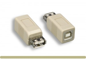 USB 2.0 Type AF to BF Adaptor