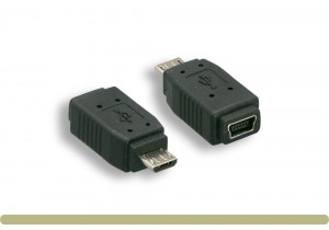 USB Micro B Male to Mini 5 Pin Adaptor