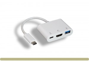 USB 3.1 Type C to USB 3.0 / HDMI / Type C Charging Adapter