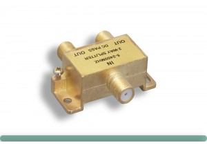 F-Type 2-Way Coaxial Cable Splitter