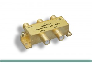 F-Type 4-Way Coaxial Cable Splitter