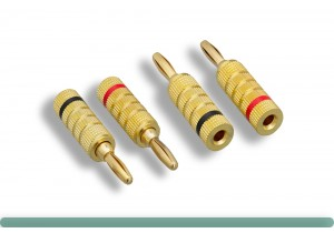 Closed Screw Type Speaker Banana Plugs