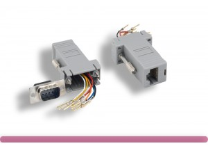 Gray Color DB9 Male to RJ-45 Modular Adapter