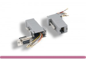 Gray Color DB9 Female to RJ-45 Modular Adapter