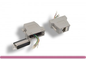 Shielded DB25 Male to RJ-45 Modular Adapter