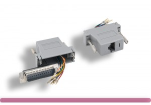Gray Color DB25 Male to RJ-45 Modular Adapter