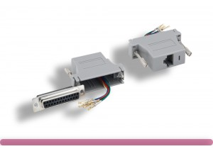 Gray Color DB25 Female to RJ-45 Modular Adapter