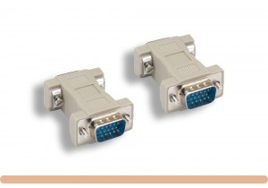 HD15 M to HD15 M VGA Molded Gender Changer
