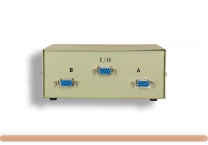 2-Way HD15 VGA Manual Data Switch
