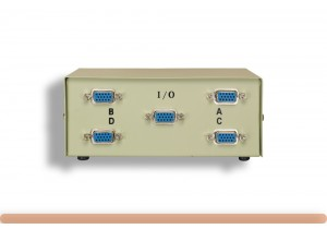 4-Way HD15 VGA Manual Data Switch