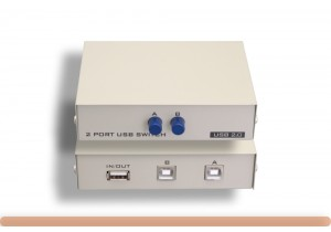 USB 2.0 1A/2B 2 Port Manual Data Switch