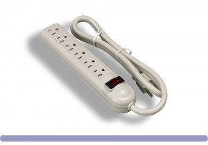 6 Outlet Power Strip with Surge Suppressor