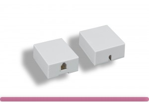 RJ-11 6P4C 1 Port Surface Mount Box
