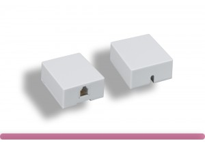 RJ-12 6P6C 1 Port Surface Mount Box