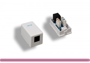 1 Port Cat. 5e Surface Mount Box