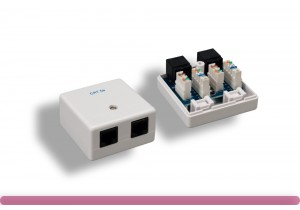 2 Port Cat. 5e Surface Mount Box