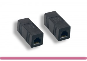 Black Color Cat. 5e Modular Inline Coupler