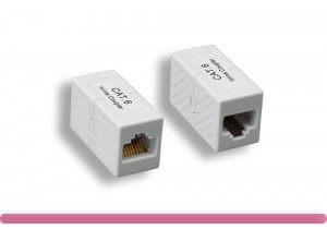 White Color Cat. 6 Modular Inline Coupler