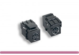 S-Video Inline Coupler Keystone Module Black