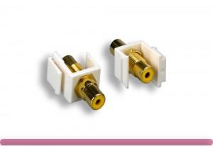 Yellow RCA F/F Keystone Insert Module