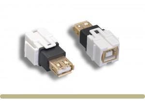 USB 2.0 AF / BF Keystone Insert Module